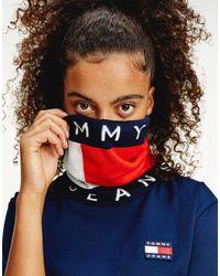 Tommy Hilfiger Mascarilla unisex estilo braga para el cuello con logo - Multicolor
