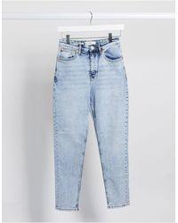 Mango Mom jeans blu lavaggio acido