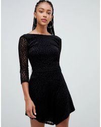 Bershka - Long Sleeved Leopard Dress - Lyst