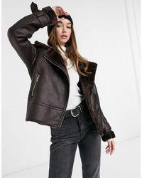 New Look Куртка-авиатор Шоколадного Цвета -коричневый