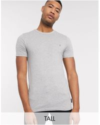 French Connection Essentials Tall T-shirt - Grey