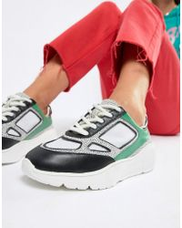 Steve Madden - Current Leather Trainer - Lyst