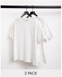 Another Influence 2 Pack Boxy Fit T-shirt - White