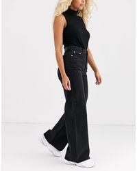 Weekday Ace Wide Leg Jeans - Black