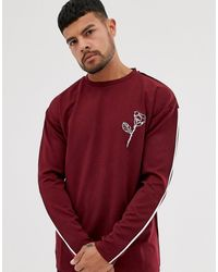 Native Youth Long Sleeve Top With Embroidered Chest Detailing