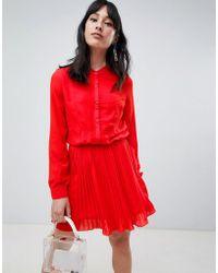 UNIQUE21 - Unique 21 Button Pleat Skirt Dress - Lyst