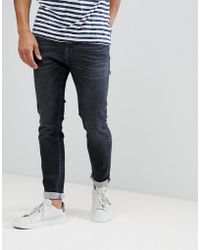 SELECTED - Super Stretch Slim Fit Jeans Made In Italy - Lyst