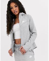 Nike Tech Fleece Zip Through Hoodie - Black