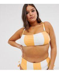 ModCloth Exclusive Shirley Bandeau Bikini Top - Orange
