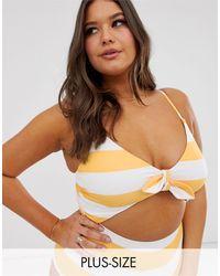 ModCloth Siena Cut Out Swimsuit - Orange