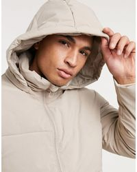 TOPMAN Recycled Puffer Jacket - Multicolour