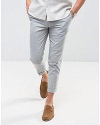Jack & Jones - Premium Slim Smart Trouser With Turn Up - Lyst