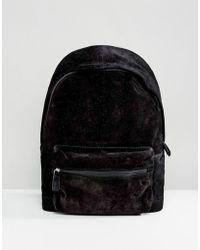 ASOS - Suede Backpack In Black - Lyst