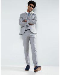 ASOS Asos Slim Suit Jacket - Gray