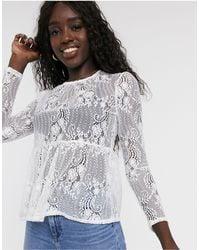 Miss Selfridge Lace Smock Top - Multicolour