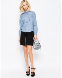 First & I | First And I Rodeo Zip Front Skirt | Lyst
