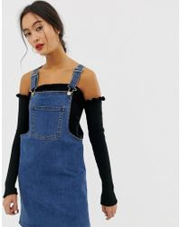 6a1411a1f63 Pepe Jeans Utility Denim Dungaree Dress in Blue - Lyst