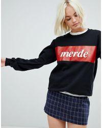Adolescent Clothing - Merde Sweatshirt - Lyst