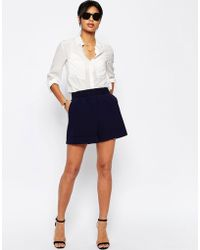 ASOS Tailored Short With Gathered Waist - Blue