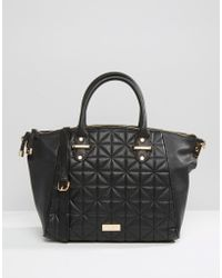 Lipsy - Quilted Winged Tote Bag - Lyst