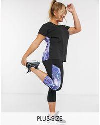 Simply Be Active Marble Print Capri leggings - Multicolor