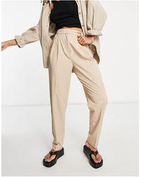 Object – Pantalon ajusté (pièce d'ensemble) – Beige - Neutre