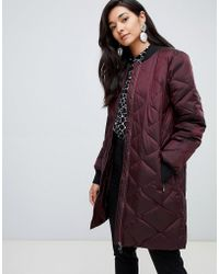 Y.A.S - Quilted Long Padded Jacket - Lyst