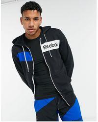 Reebok Te Linear Logo Fz Hoodie - Black