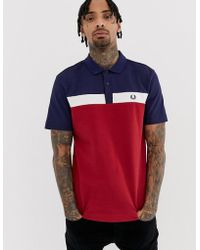 Fred Perry Polo Met Vlak In Rood