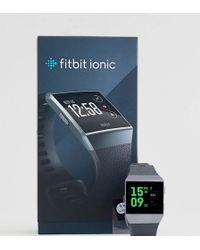 Fitbit - Ionic Smart Watch In Black - Lyst