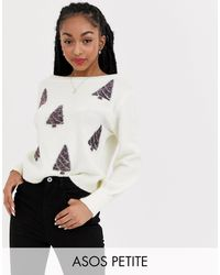 ASOS Asos Design Petite Charity Christmas Tree Sweater For Asos Foundation - Multicolor
