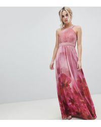 Little Mistress - High Neck Full Bloom Floral Maxi Dress - Lyst