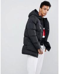 Criminal Damage - Longline Puffer Jacket In Black - Lyst