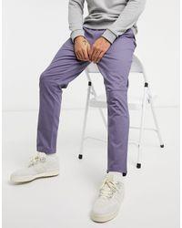 ASOS Slim-fit Chino's Met Elastische Tailleband - Grijs