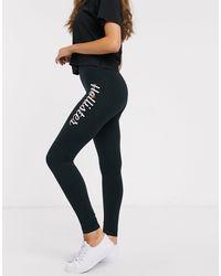 Hollister Legging avec logo sur la hanche - Noir