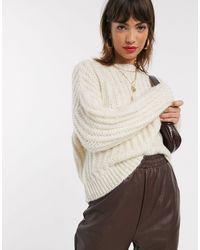 Stradivarius Knit Sweater - Natural