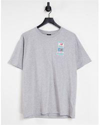New Balance Серая Футболка С Нашивками С Логотипом -серый