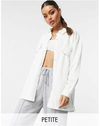 Missguided Oversized Denim Shirt - White
