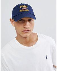 Polo Ralph Lauren - Flag Logo Baseball Cap In Navy - Lyst