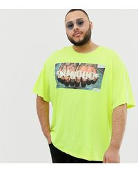ASOS Неоновая Oversize-футболка С Принтом Migos Huncho Plus - Зеленый