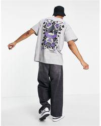 Honour HNR LDN - T-shirt oversize avec motif as - Gris