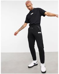 The Couture Club Joggers negros con logo Jordi
