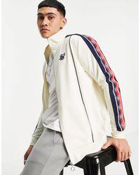 SIKSILK Белая Куртка На Молнии С Высоким Воротником И Тесьмой В Стиле Ретро -белый
