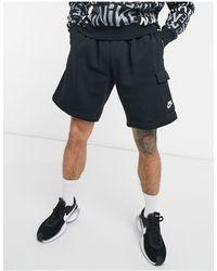 Nike Черные Шорты Карго Club-черный Цвет