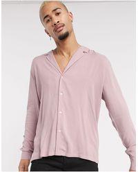 ASOS Camisa holgada - Rosa