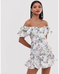 ASOS Bardot Mini Dress - Multicolour