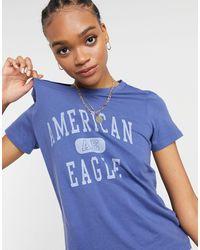American Eagle Camiseta azul clásica