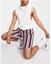Threadbare – Gestreifte Shorts - Mehrfarbig