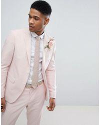 Lindbergh - Wedding Suit Jacket In Light Pink - Lyst