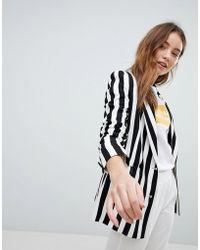 Bershka - Bold Stripe Blazer - Lyst